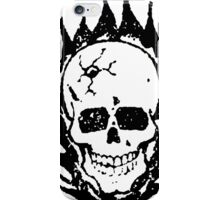 Cracked and Blazing Skull 02 iPhone Case/Skin