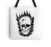 Cracked and Blazing Skull 02 Tote Bag