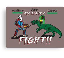 Jabba vs Master O  Canvas Print