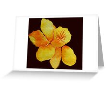 Watercolor painted daffodil Greeting Card