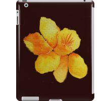 Watercolor painted daffodil iPad Case/Skin