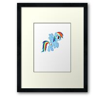 My little Pony Rainbow Dash (T-Shirt, Phone Case & more) Framed Print