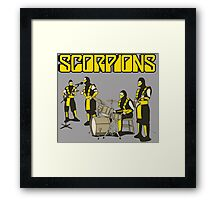 SCORPIONS ROCK BAND Framed Print