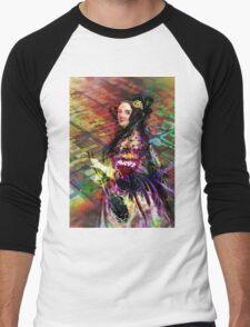 Ada Lovelace - Rainbow of Microchips Men's Baseball ¾ T-Shirt