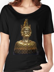 Mask reliquary of Charlemagne, located at Cathedral Treasury in Aachen Women's Relaxed Fit T-Shirt