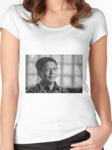 Yitang Zhang - established the first finite bound on gaps between prime numbers Women's Fitted Scoop T-Shirt