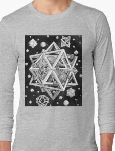MC Escher Halftone Long Sleeve T-Shirt