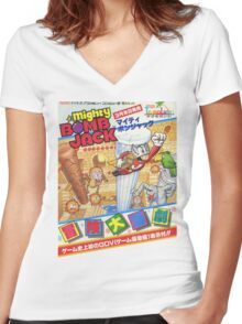Mighty Bomb Jack Women's Fitted V-Neck T-Shirt