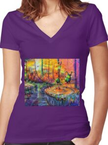 The Principal's Office Women's Fitted V-Neck T-Shirt