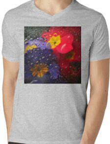 underwater flora - color   Mens V-Neck T-Shirt