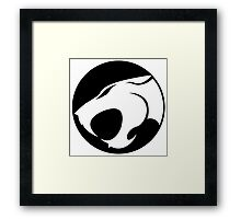 Thundercats WHITE & BLACK Framed Print