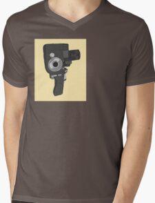 Old fashioned video camera Mens V-Neck T-Shirt