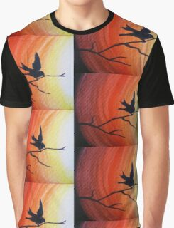 Bird silhouette at dawn Graphic T-Shirt