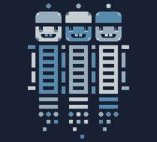 Acorn Rocket Bots Blue One Piece - Long Sleeve
