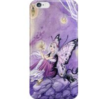 Chasing Butterflies gothic butterfly fairy art tote iPhone Case/Skin
