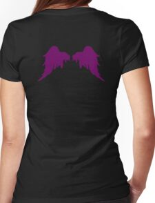 Dark Purple Wings Womens Fitted T-Shirt