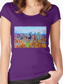 Montreal Skyline from Mount Royal Women's Fitted Scoop T-Shirt