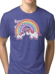 Cute Unicorn Mom Tri-blend T-Shirt