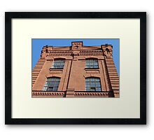 brick industrial building Framed Print