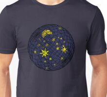 Celestial sphere with moon and stars Unisex T-Shirt