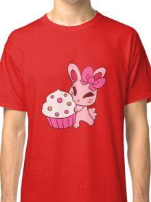 Girly Pink Cupcake Bunny Classic T-Shirt