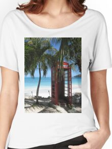 Antigua Red Phone Box Women's Relaxed Fit T-Shirt