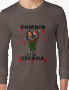 ZOMBIE CICADA RISES FROM THE EARTH Long Sleeve T-Shirt