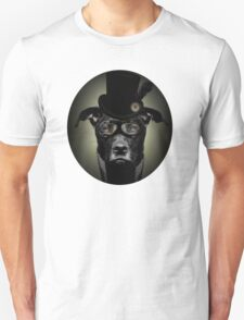 4.Dapper Eduardian Pit Bull in Steampunk Gear Unisex T-Shirt