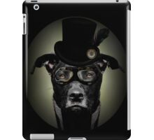 4.Dapper Eduardian Pit Bull in Steampunk Gear iPad Case/Skin
