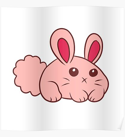 Cute Round Bunny Poster