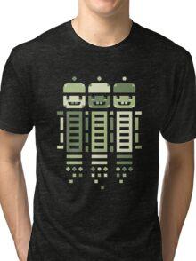 Acorn Rocket Bots Green Tri-blend T-Shirt