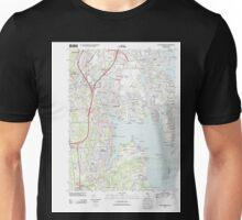 USGS TOPO Map Rhode Island RI East Greenwich 20120604 TM Unisex T-Shirt