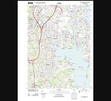 USGS TOPO Map Rhode Island RI East Greenwich 20120604 TM T-Shirt