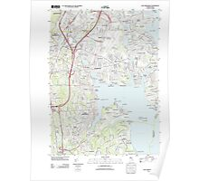 USGS TOPO Map Rhode Island RI East Greenwich 20120604 TM Poster