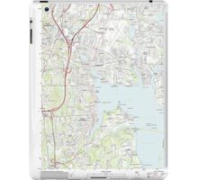 USGS TOPO Map Rhode Island RI East Greenwich 20120604 TM iPad Case/Skin