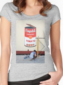 Imitating Warhol in Cienfuegos, Cuba Women's Fitted Scoop T-Shirt