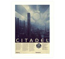 Mass Effect - Citadel Vintage Poster Art Print