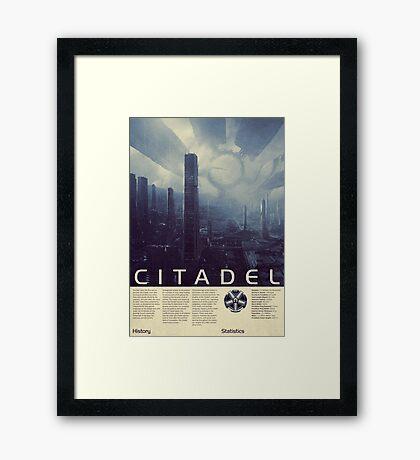 Mass Effect - Citadel Vintage Poster Framed Print
