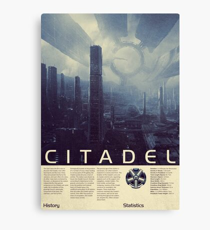 Mass Effect - Citadel Vintage Poster Canvas Print