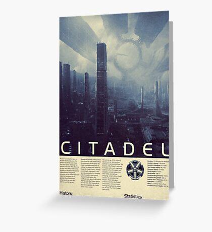 Mass Effect - Citadel Vintage Poster Greeting Card
