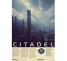 Mass Effect - Citadel Vintage Poster Photographic Print