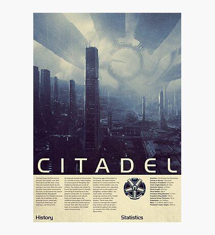 Mass Effect - Citadel Vintage Poster Photographic Print
