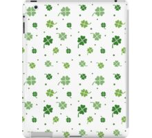 Clover Pattern (White Background) iPad Case/Skin
