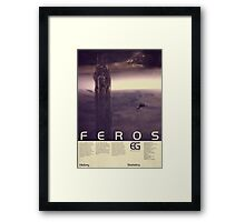 Mass Effect - Feros Vintage Poster Framed Print