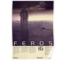 Mass Effect - Feros Vintage Poster Poster