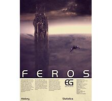 Mass Effect - Feros Vintage Poster Photographic Print