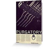 Mass Effect - Purgatory Vintage Poster Greeting Card