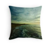where water and sky meet Throw Pillow