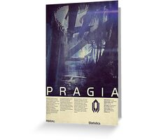 Mass Effect - Pragia Vintage Poster Greeting Card