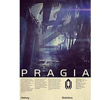 Mass Effect - Pragia Vintage Poster Photographic Print